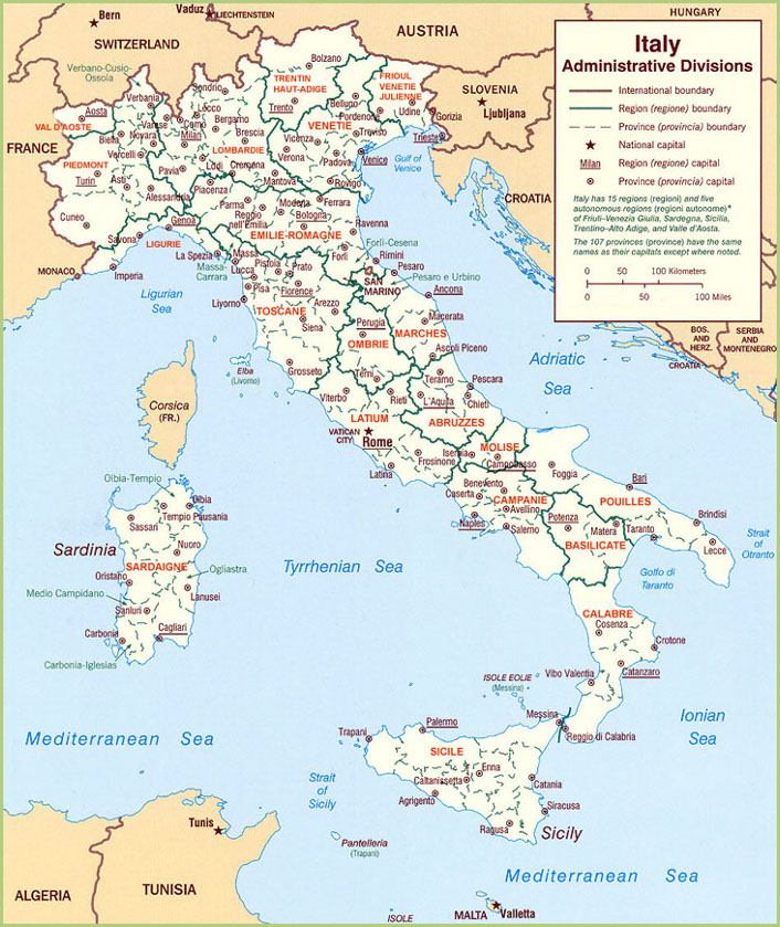 Italy has many large cities in all regions, from Venice to Palermo. Destinations of choice for a trip to Italy all over the country