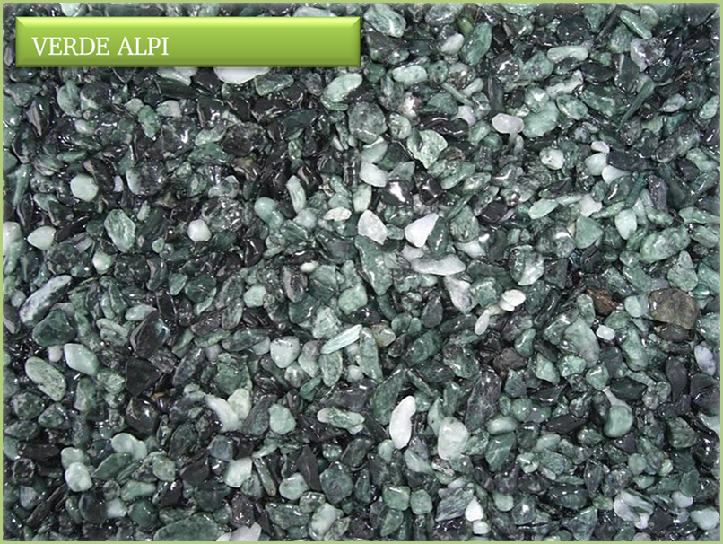 The marble aggregates - Color Verde alpi