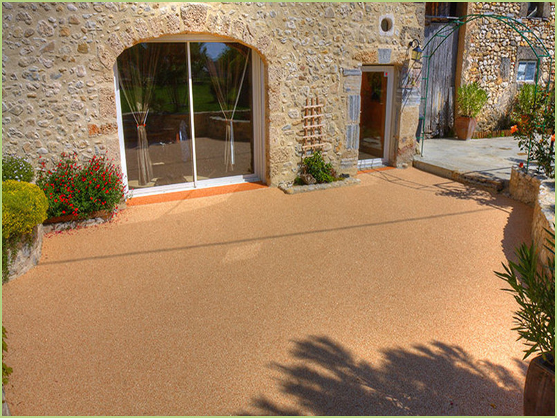 terrace Provencal-Resin marble rosso verona