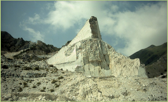 One of the many marble quarries