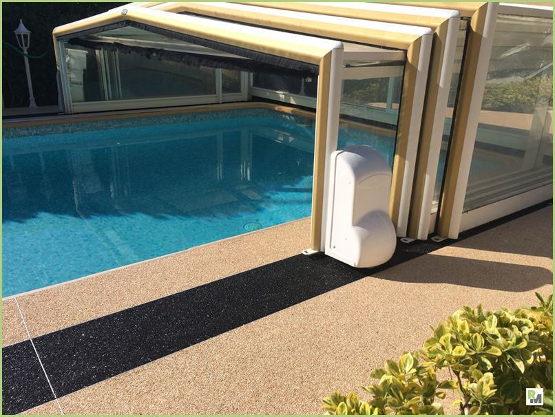 The marble aggregates - Pool of a Nice customer in France
